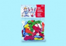 Wasserbomben-Luftballons, gemischte Farben, 100 Stück - 1