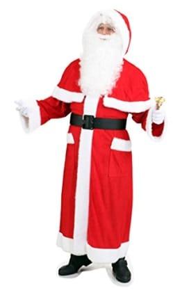 Weihnachtsmann-Kostüm: Mantel mit Pelerine, standard - 1