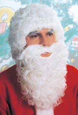 Weihnachtsmann-Kostümierung: Bart und Perücke (SET-30215) - 1