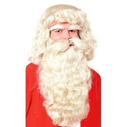 Weihnachtsmann-Kostümierung: Luxus-Set aus Kunsthaar - 1