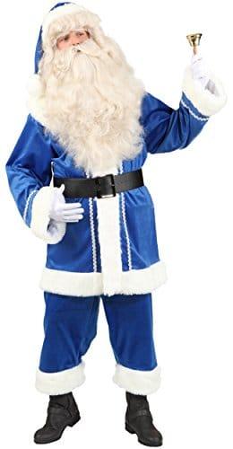 Weihnachtsmannanzug in Blau - 1