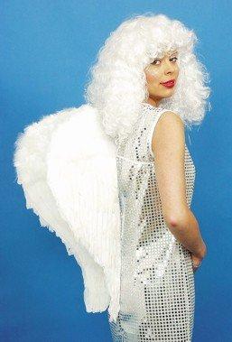 Weiße Engelflügel aus Federn, 55 cm - 1