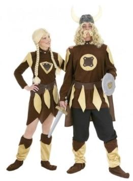 Wikinger-Kostüm: Oberteil, Umhang, Stulpen, Größen 50 – 60 - 1