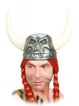 Wikingerhelm: Helm mit Hörnern, Kunststoff - 1