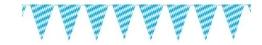 Wimpelkette: 12 Wimpel, 4 m Länge, weiß-blaue Bayern-Rauten - 1