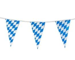 Wimpelkette, blau-weiße Rauten, 4 m - 1