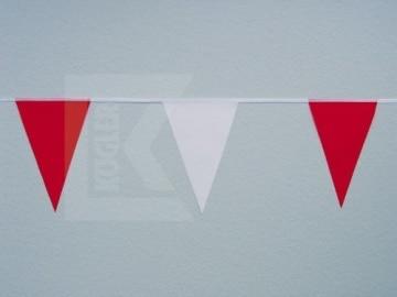 Wimpelkette, rot und weiß, 10 m Länge, einfache Qualität - 1