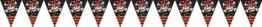 Wimpelkette: Wimpel mit Jolly Roger als Motiv, 4 m - 1