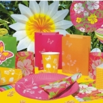 Windlichter: Papier-Windlichter, Sommer-Blume, 10 cm, 3er-Pack - 2