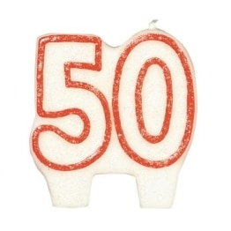Zahlenkerze, 50. Geburtstag, 7 cm - 1