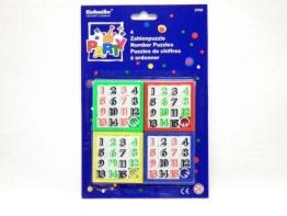 Zahlenspiel: Schieberätsel mit Zahlen, 4 Stück - 1